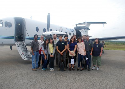 Mandatory group shot with the private jet plane!